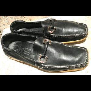 Ferragamo Gancini  Driving Black Men shoes